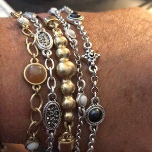 NEW multi strand beaded bracelet with bling